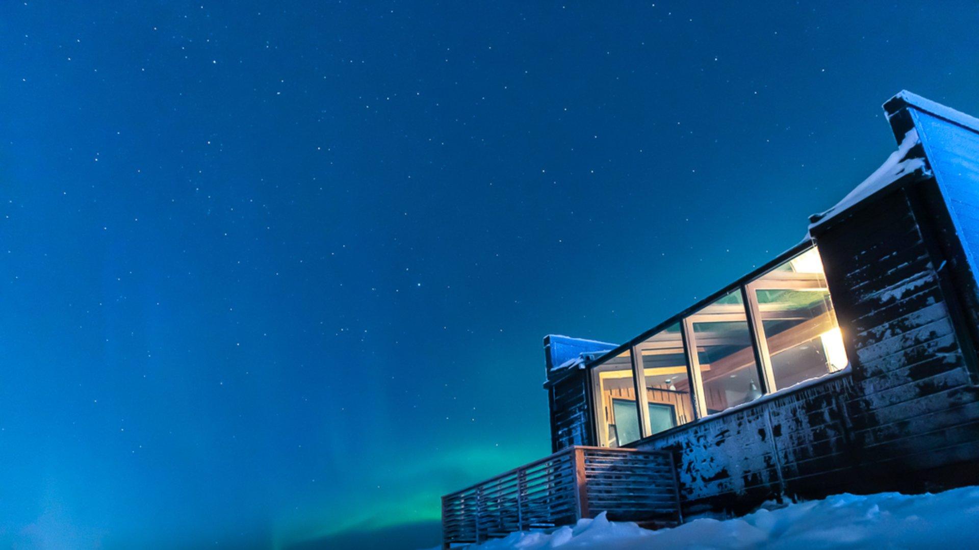 Auroras boreales de otoño en Saariselkä