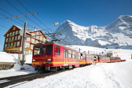 En tren hasta el Jungfraujoch (Suiza)
